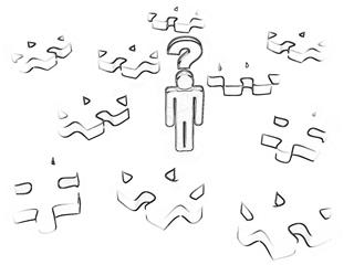evaluare puzzle_Cartoonized alpha crayon